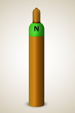 compressed: Gas cylinder with new color identification sign