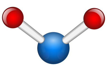Single Water H2O molecule vector illustration