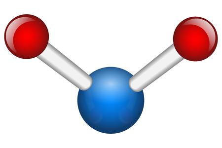 Single Water H2O molecule vector illustration