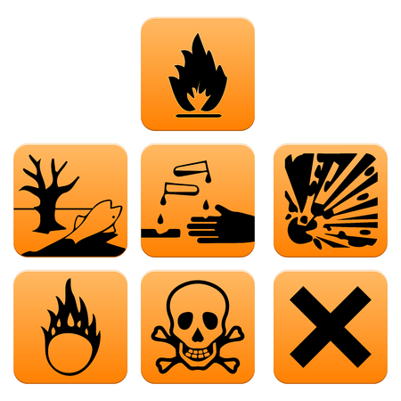Hazard pictograms of Europe standard vector illustration Vector