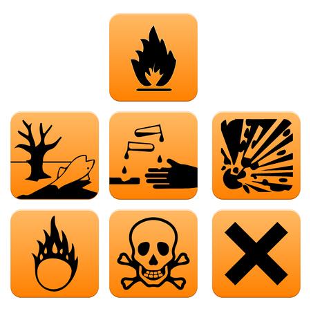Hazard pictograms of Europe standard vector illustration