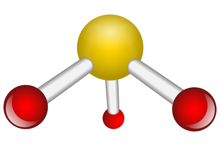 Single Ammonia NH3 molecule vector illustration Vector