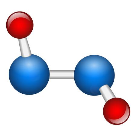 peroxide: Single hydrogen peroxide H2O2 molecule vector illustration
