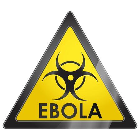 mortale: EBOLA africano mortale virus contagioso segno di avvertimento