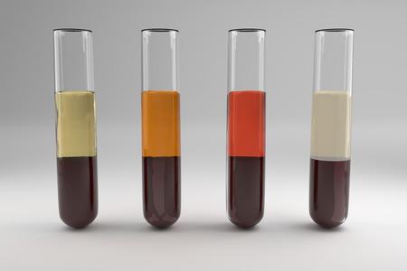 혈청 샘플 오류의 일반적인 유형 스톡 콘텐츠