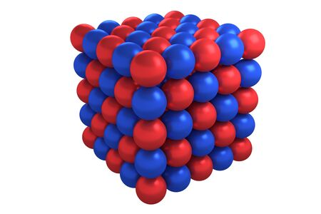 lattice: Molecule cubic crystal structure