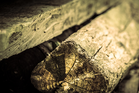 balk: Aged wooden planks in shallow depth of field