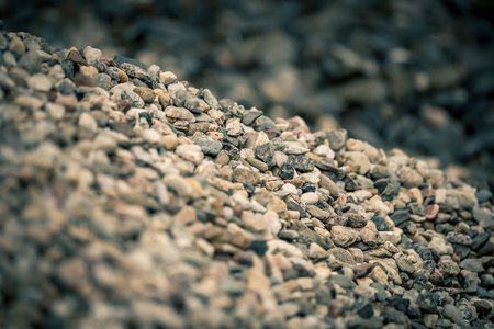 Pile of little stones in shallow depth of field