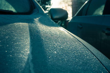 Car covered in frost