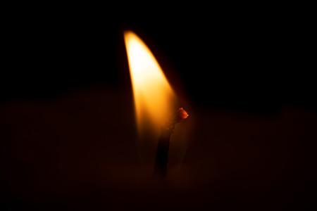 Candle flame ultra macro Stok Fotoğraf