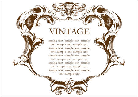 vector vintage frame cover stock Illustration