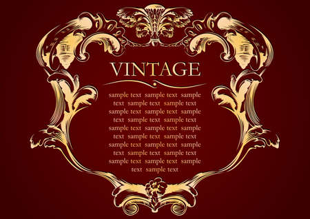 vector vintage frame cover stock Иллюстрация