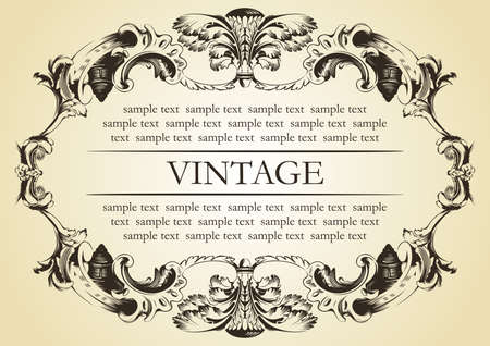 vector vintage frame cover stock Vector