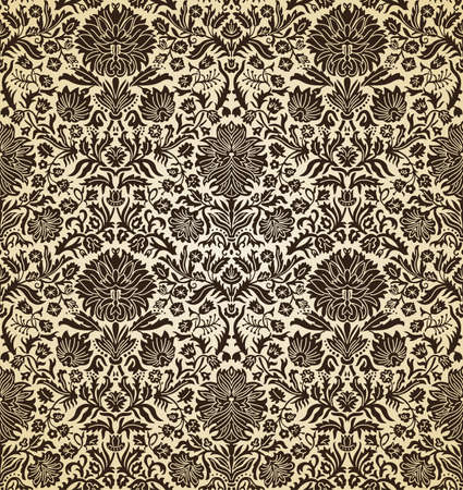 vector illustration seamless wallpaper vintage