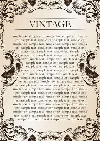 frame vector: vector vintage frame vector illustration