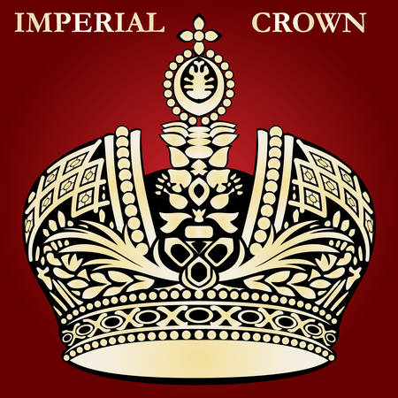imperial crown red royal vector