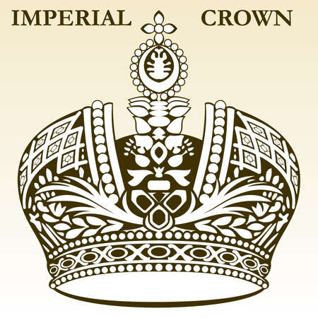 imperial crown white royal vector Vector