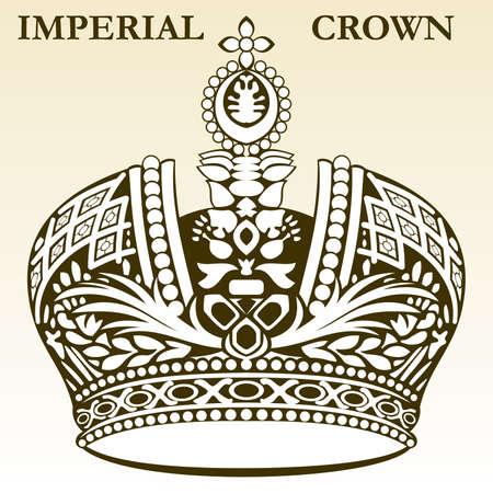 Imperial wektora royal białej korony