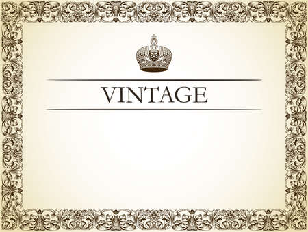Vintage frame decor vector illustration