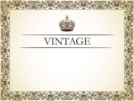 Vintage Frame-Dekor-Vektor-illustration