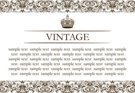Vintage frame decor line vector Illustration