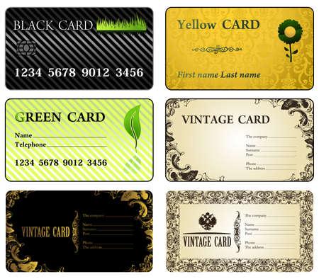 Business cards vintage modern. Vector illusrtation Illustration