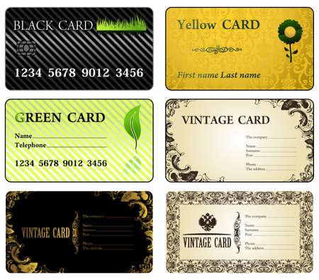 Business cards vintage modern. Vector illusrtation Иллюстрация