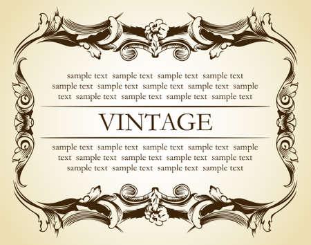 new frame vintage ornament. vector illustration Vector