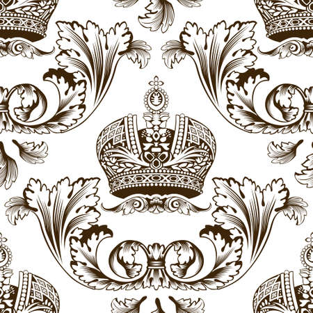 New seamless decor imperial ornament. Vector illustration Stock Vector - 6079279