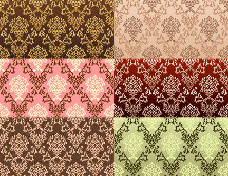 seamless damask background. Vector illustration Stock Vector - 6079296