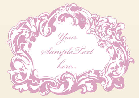 original imperial frame pink vector Illustration