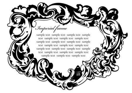 original imperial frame isolated black white vector