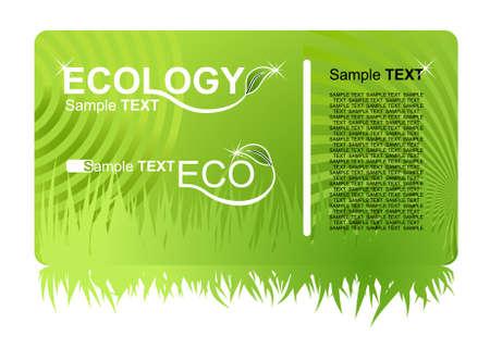 greenpeace: eco green business card. illustration Illustration