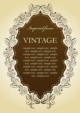 Floral vintage Vignette frame. illustration Ilustracja