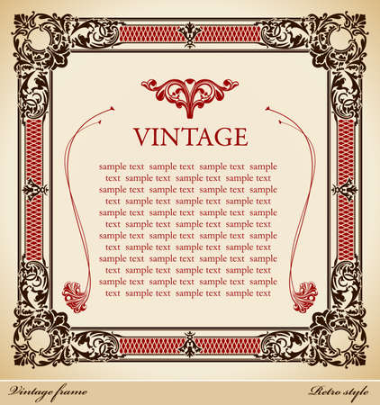 Medieval vintage frame illustration Illustration