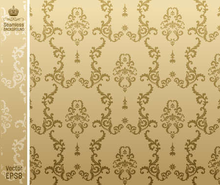 seamless background flower beige. illustration Stock Vector - 7997844