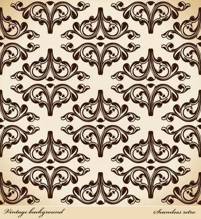 Seamless background Medieval Ornament retro. illustration Stock Vector - 7997830