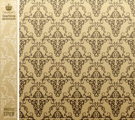 seamless royal background floral Pattern. illustration
