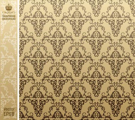 seamless royal background floral Pattern. illustration Vector