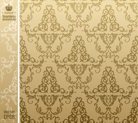 seamless royal background flower Pattern. illustration
