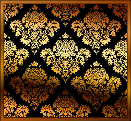 Seamless floral background gold. illustration Vector