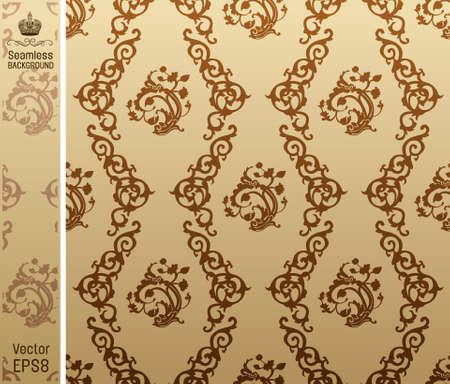 seamless vintage background floral Pattern. Vecor illustration Vector