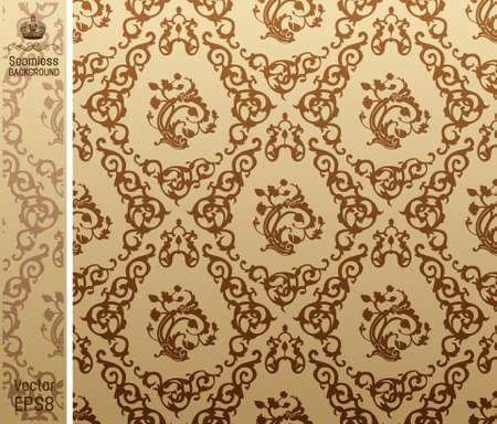 seamless vintage background Pattern brown. illustration Stock Vector - 7997848