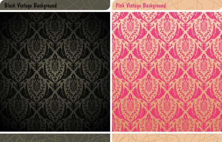 seamless vintage wallpaper Stock Vector - 7998330
