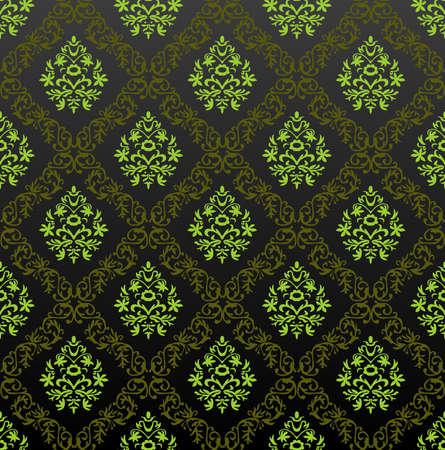 Bez szwu zielonej kwiatu tapety. Ilustracja