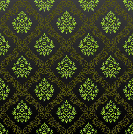Seamless Wallpaper floral green. illustration