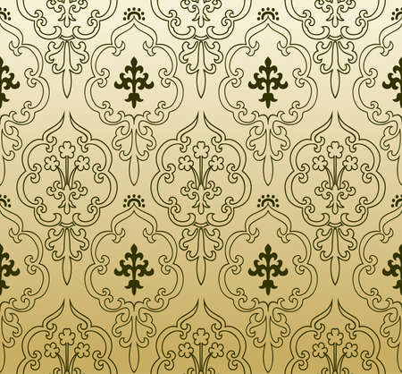 Seamless wallpaper gothic vintage - background Stock Vector - 7997750