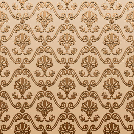 seamless wallpaper old decorative vintage  background Stock Vector - 7997997