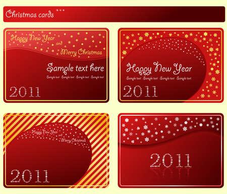 Snowflakes cards Christmas labels set.  illustration Ilustracja