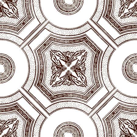 ceiling tile seamless vintage decorative brown Vector